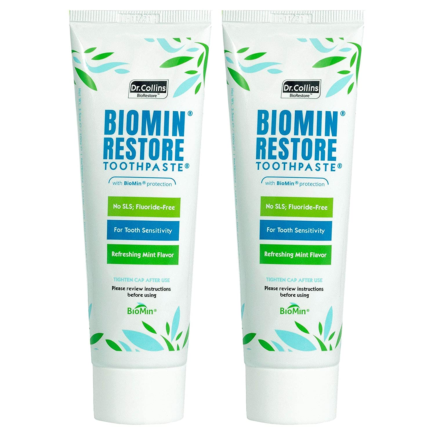 Dr. Collins Super intense SALE Biomin Tooth Toothpaste 2 Sensitivity Manufacturer OFFicial shop Count