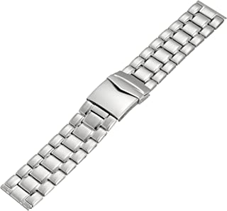 Hadley-Roma MB9286RWSE 24 24mm Stainless Steel White Watch Strap