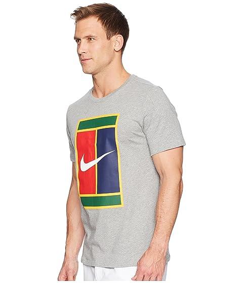 oscuro brezo Camiseta Logo de tenis oscuro gris gris Nike Heritage gris Court PwpvnrPqR