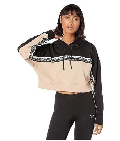 adidas Originals Cropped Hoodie (Ash Pearl/Black) Women