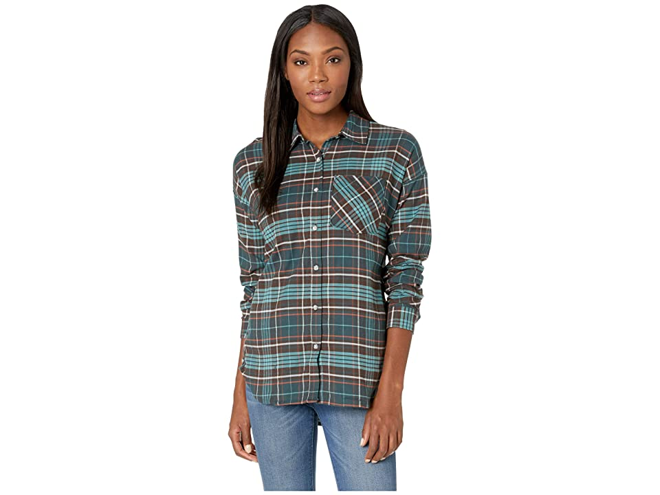 Mountain Hardwear Karseetm Long Sleeve Shirt (Blue Spruce) Women
