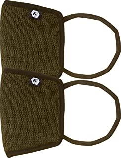 Fort Collins Unisex Cotton Face Mask (Pack of 2) (121_Olive_One Size)