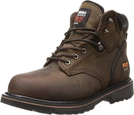 "Timberland Pro - Mens 6"" Pit Boss Steel Safety Toe Shoe, 8.5 2E UK, Dark Brown : boots"