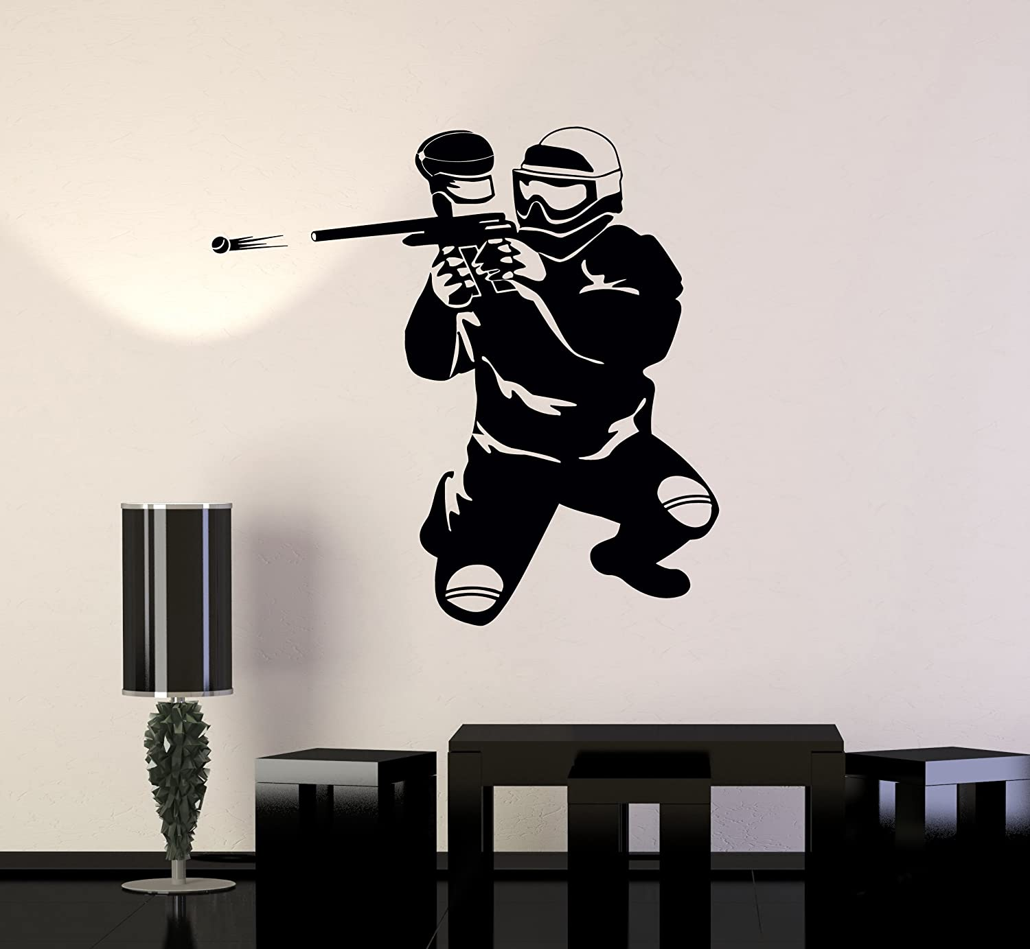 Wall Stickers Rapid rise Houston Mall Paintball Gun Player z1699i Sport L Extreme Cool