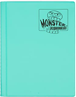 Monster Binder Cards (4), Matte Teal