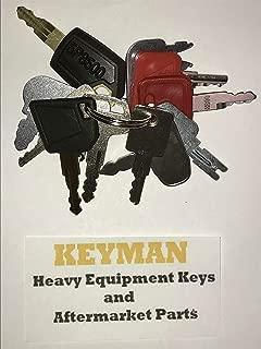 12 Heavy Equipment Construction Ignition Keys Set