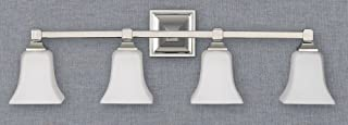 Feiss VS12404-PN 4-Bulb Vanity Light Fixture, Polished Nickel Finish