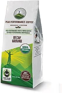 Peak Performance High Altitude Organic Coffee. No Pesticides, Fair Trade, GMO Free, Full Of Antioxidants. USDA Certified Organic (Decaf Ground)