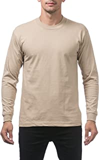 Pro Club Men's Heavyweight Cotton Long Sleeve Crew Neck T-Shirt