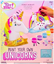 It's So Me! Paint Your Own Unicorns by Horizon Group USA, Paint & Decorate 2 Plaster Unicorns, Includes 6 Acrylic Paints, 5 Metallic Paints, Gemstones, Glitter, Sticker Sheet, Paint Brush & More