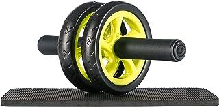 Ultrasport Wheel Roller, AB Abdominal Aparato de Entrenamiento y Ayuda para Bajar de Peso, con Rueda Doble y Superficie de Apoyo para Las Rodillas, Unisex Adulto