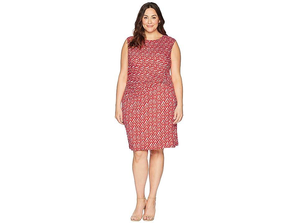 NIC+ZOE Plus Size Two To Tango Twist Dress (Multi) Women
