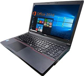 富士通 ノートPC A744/MS Office 2019/Win 10/15.6型/10キー/Core i7-4600M/16GB/512GB SSD (整備済み品)
