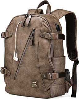 063a62517e1d DiDe Backpack for Men with USB Charging Port   Headphone Hole Vintage Casual  Daypacks for travel