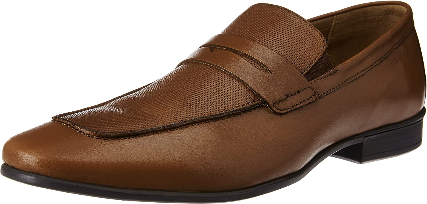 Ruosh Men's Tan Leather Formal shoes - 10 UK India (44 EU)