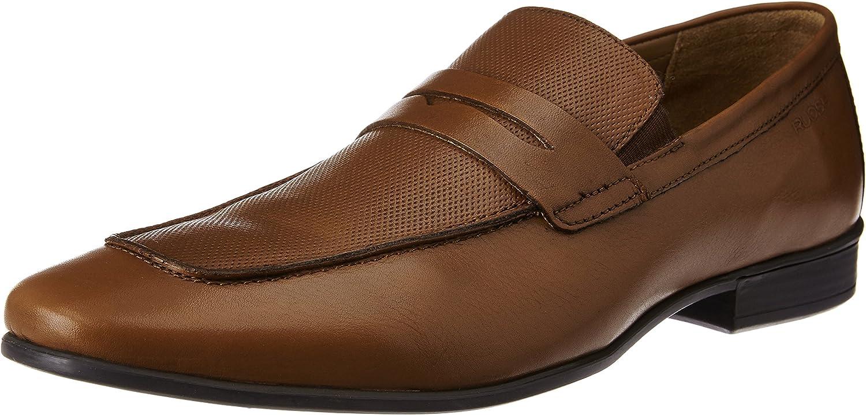 Ruosh Men's Tan Leather Formal shoes - 10 UK India (44 EU)