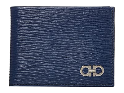 Salvatore Ferragamo Revival Gancio Bifold Wallet (Fjord Blue/Wine) Wallet Handbags