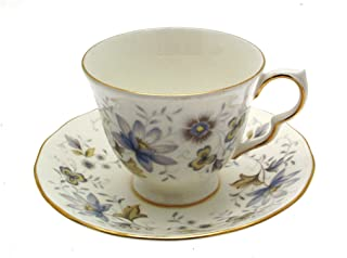 Colclough Rhapsody in Blue 8683 Cup and Saucer