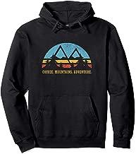 Retro Sunset Hiking Coffee Mountains Adventure  Pullover Hoodie