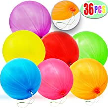 36 Pieces Neon Punch Balloons for Classroom Activity Prize Reward, Birthday Party Favor, Carnival Game