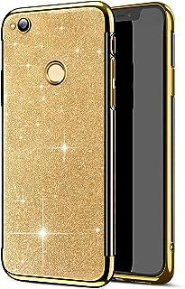 Felfy Kompatibel med Huawei P8 Lite 2017 mobiltelefonfodral glitter bling Sparkle glänsande överdrag mjuk TPU silikon stöt...
