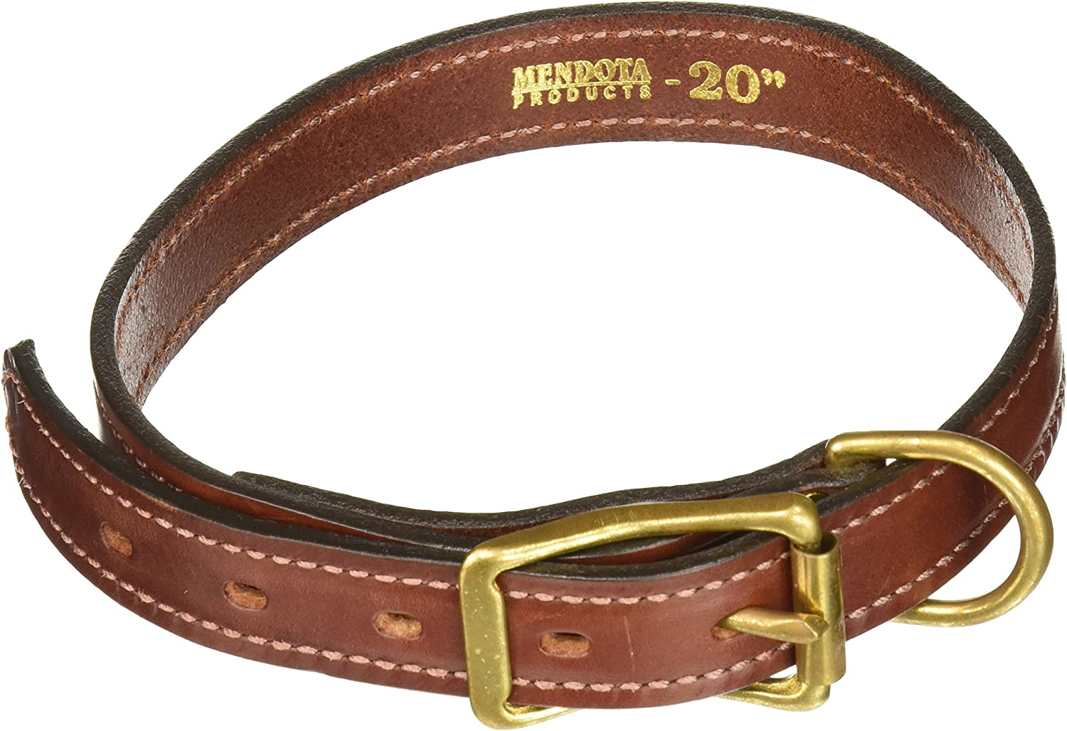 Mendota Products Standard Dog Collar, 1Inch by 20Inch, Chestnut