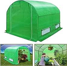 BenefitUSA GH055 Outdoor Green Walk in Garden Canopy Gazebo Plant House (10'X7'X6') Greenhouse