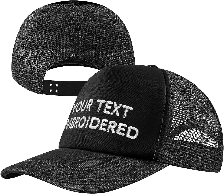 Custom Mesh Hat for Men & Women Personalized Text Trucker Snapback Bill Hat/Cap