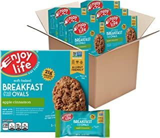 Sponsored Ad - Enjoy Life Soft Baked Apple Cinnamon Ovals Breakfast Bars, Nut Free Bars, Soy Free, Dairy Free, Non GMO, Gl...