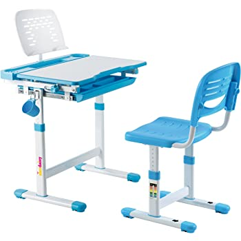 Alex Daisy Pluto Kids Height Adjustable Study Table & Chair Set - Blue