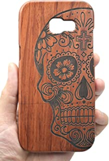 VolksRose Samsung Galaxy A3 2017 Wood Case - Rosewood Skull - Premium Quality Natural Wooden Case for Your Smartphone and Tablet