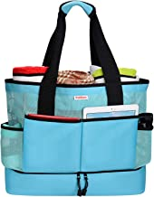 Mesh Beach Bag - Large Beach Tote Bag with Insulated Cooler Compartment - Grocery & Picnic Tote Travel Bag