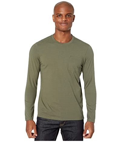 Prana Rex Long Sleeve Crew (Rye Green) Men