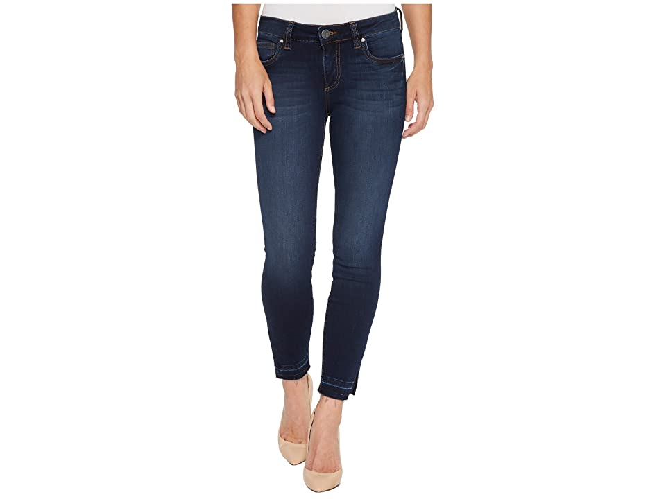 KUT from the Kloth Connie Ankle Skinny w/ Side Slit in Originate (Originate/Euro Base Wash) Women