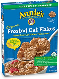 Annie's Organic Cereal, Frosted Oat Flakes, Whole Grain Cereal, 10.8 Ounce