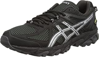 ASICS 1011A034 Men's Frequent Trail Running Shoe, CarbonRed Alert 14 D(M) US