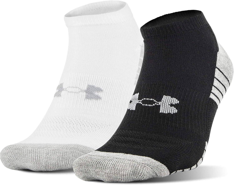 Under Armour Adult HeatGear Tech No Show Socks, 2-Pairs