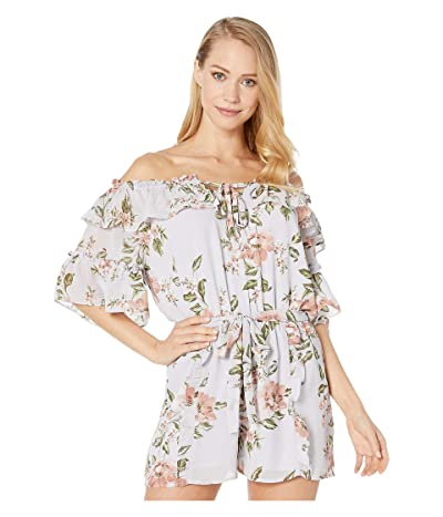 WAYF Jasper Romper (Dusty Blue Floral) Women