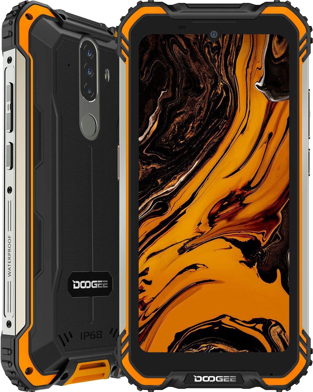 Móvil Resistente, DOOGEE S58 Pro Smartphone 4G Android 10, Cámara Triples 16MP Cámara Frontal 16MP, 6GB+64GB, 5180mAh, 5.7 Pulgada IP68/IP69K Teléfono Móvil Libre Antigolpes, NFC/GPS, Naranja