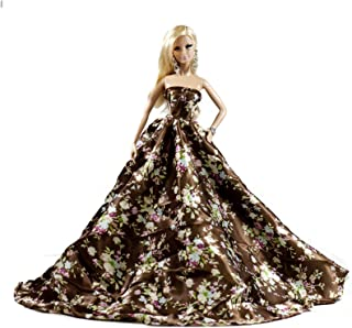 Peregrine Brown Floral Flowers Silk Ball Gown for 11.5...