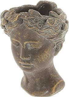 Lucky Winner Greek/Roman Style Female Statue Head Cement Planter (8