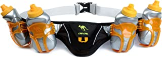 247 Viz Hydration Running Belt - Fits iPhone 8, X and Similar Sized Phones - with 4 BPA Free Water Bottles & Runners Reflective Gear for High Visibility