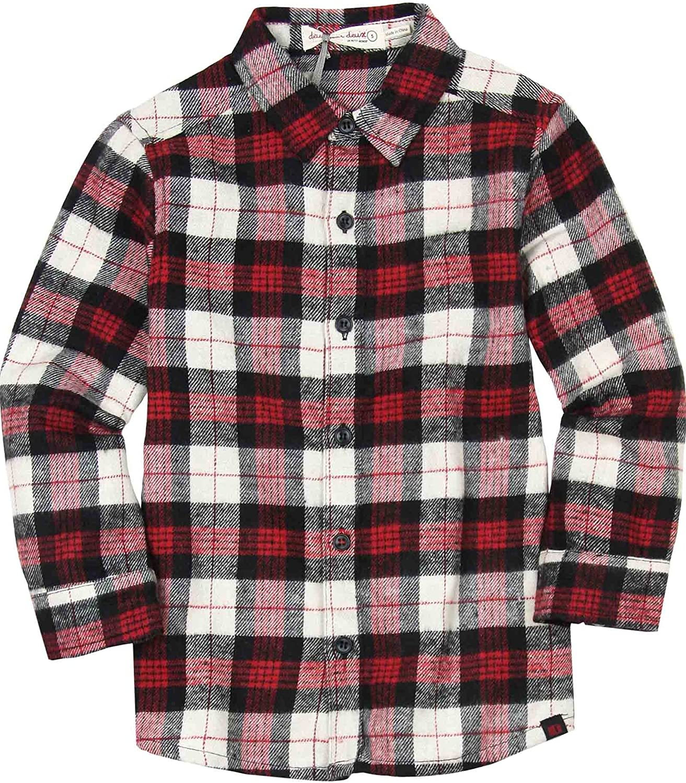 Deux par Deux Boys' Plaid Shirt Under The Radar, Sizes 5-12