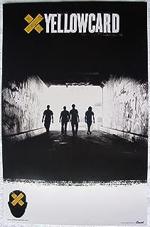 Yellowcard - Lights And Sounds - Poster - Rare - New - Ryan Key - Sean Mackin - Ben Harper - Peter Mosely - Longineu W. Parsons III - Rough Landing, Holly