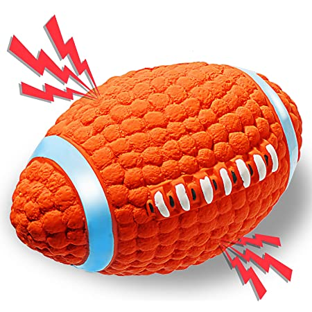 Kong Airdog Football Quietschendes Federndes Apportierspielzeug Aus Tennisballmaterial Für Große Hunde Haustier