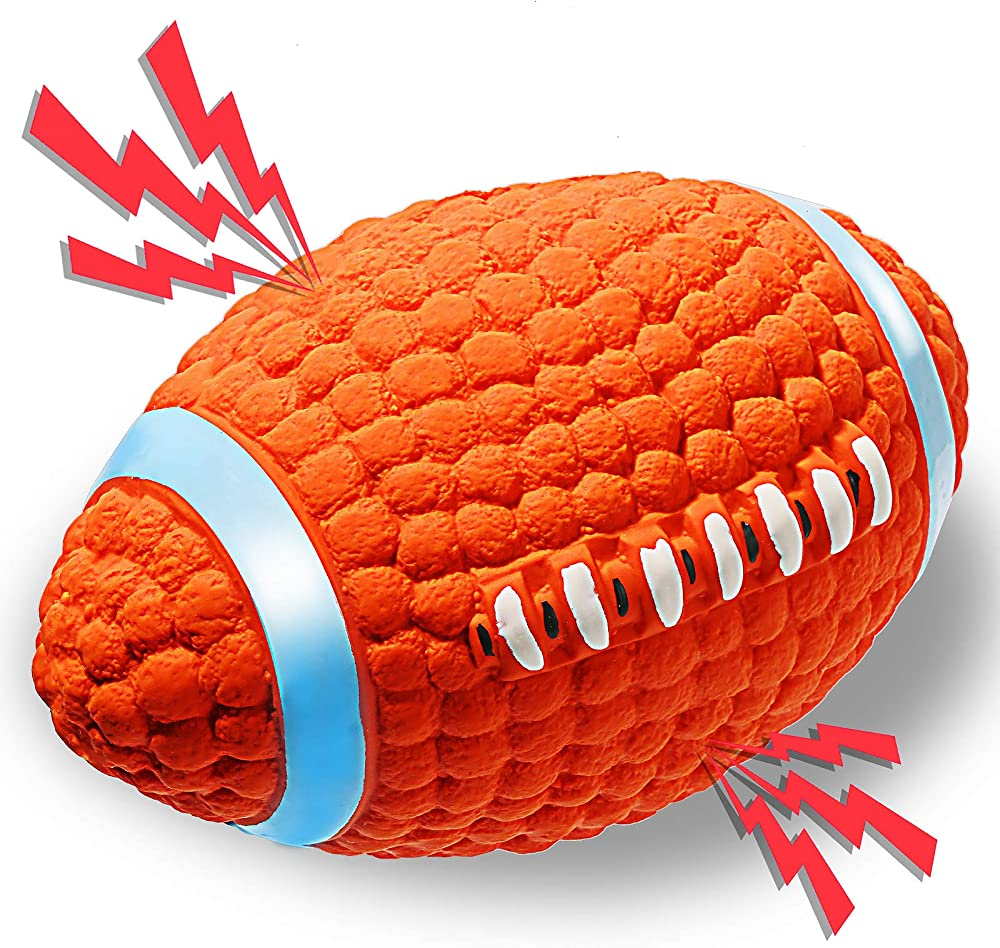 Ace2ace, palla da rugby, giocattolo interattivo da lancio per cani, in lattice naturale ecologico 0011