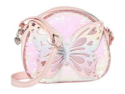 OMG! Accessories Sequins Butterfly Crossbody (Pink) Handbags