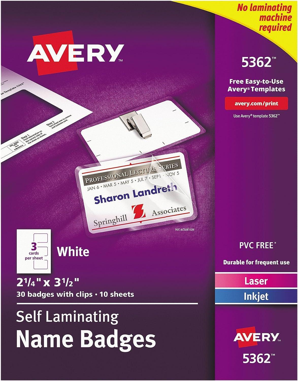 Avery Self-Laminating Name Badges Save money 2-1 4