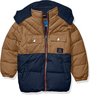 Perry Ellis Boys' Quilting Mix Puffer