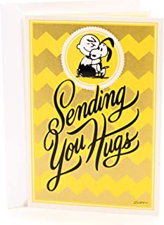 Hallmark Peanuts Get Well Card (Snoopy and Charlie Brown, Sending Hugs) - 399RZB1022
